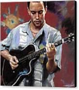 Dave Matthews Canvas Print by Viola El