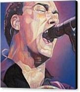 Dave Matthews Colorful Full Band Series Canvas Print by Joshua Morton
