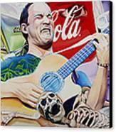 Dave Matthews Seek Up Canvas Print by Joshua Morton