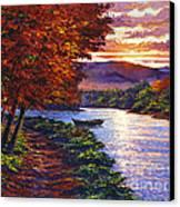 Dawn On The River Canvas Print by David Lloyd Glover