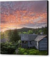 Dawn Over Leconte Canvas Print by Debra and Dave Vanderlaan