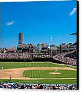 Day Game At Wrigley Field Canvas Print by Anthony Doudt