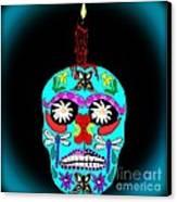 Day Of The Dead Sugar Skull Canvas Print by Eva Thomas