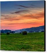 Daybreak On The Farm Canvas Print by Paul Herrmann