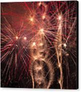 Dazzling Fireworks Canvas Print by Garry Gay