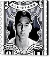 Dcla Al Kaline Detroit All-stars Finest Stamp Art Canvas Print by David Cook Los Angeles