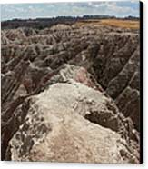 Dead End Trail In Badland National Park South Dakota Canvas Print