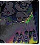 Dead Man's Hand Canvas Print by Rebecca Flaig