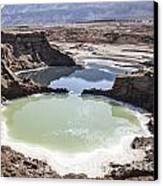 Dead Sea Sinkholes  Canvas Print