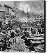 Deadwood South Dakota C. 1876 Canvas Print