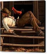 Deaf To The Rooster's Call Canvas Print by Daniel Eskridge