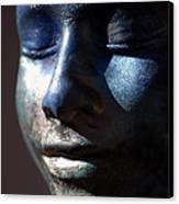 Death Mask Canvas Print by Glenn McGloughlin