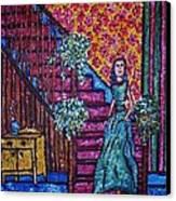 Decending Staircase Canvas Print by Linda Vaughon