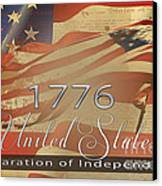 Declaration Of Independence  Canvas Print by Beverly Guilliams