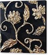 Decor Black And Gold Canvas Print by Lori McPhee