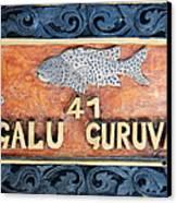 Decor Element With Fish. Maldives Canvas Print