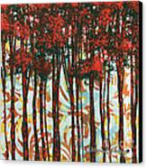 Decorative Abstract Floral Bird Landscape Painting Forest Of Dreams II By Megan Duncanson Canvas Print by Megan Duncanson