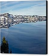 Deep Blue Crater Canvas Print
