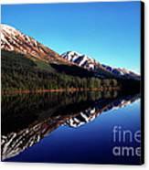 Deep Blue Lake Alaska Canvas Print by Thomas R Fletcher