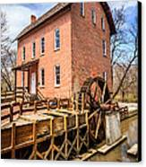 Deep River Grist Mill In Northwest Indiana Canvas Print by Paul Velgos