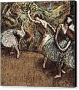 Degas, Edgar 1834-1917. Ballet Scene Canvas Print by Everett