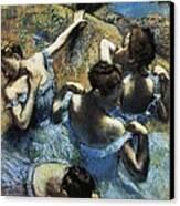 Degas, Edgar 1834-1917. Blue Dancers Canvas Print