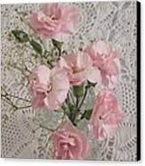 Delicate Pink Flowers Canvas Print by Good Taste Art