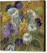 Delicate Aroma II -unfarmed-with Gold Leaf By Vic Mastis Canvas Print
