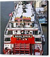 Delta Queen In Christmas Snow Canvas Print by Tom and Pat Cory