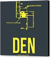 Den Denver Airport Poster 1 Canvas Print by Naxart Studio