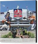 Denver Broncos Sports Authority Field Canvas Print by Joe Hamilton