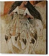 Departure Of White Buffalo Woman Canvas Print by Pamela Mccabe