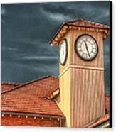 Depot Time Canvas Print by Brenda Bryant