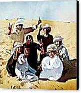 Desert Kids Canvas Print by Peter Waters