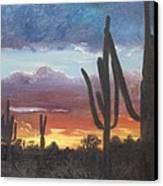 Desert Silhouette Canvas Print