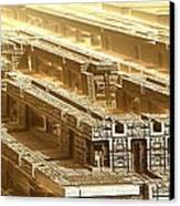 Desert Temple Canvas Print by Bernard MICHEL