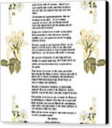 Desiderata With Art Canvas Print by Anne Norskog