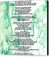 Desiderata - Words Of Wisdom Canvas Print