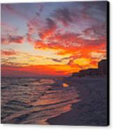Destin Sunset Canvas Print by Kay Pickens