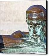 Detail Of Sculpture Canvas Print by Borislav Marinic