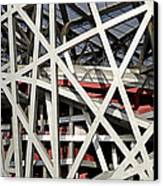 Detail Of The Beijing National Stadium Canvas Print by Brendan Reals