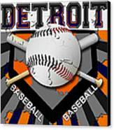 Detroit Baseball  Canvas Print by David G Paul