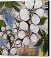 Detroit Blooms Canvas Print by Andrea LaHue aka Random Act