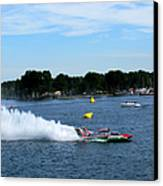 Detroit Hydroplane Race  Canvas Print by Michael Rucker