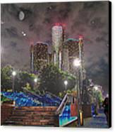 Detroit Riverwalk Canvas Print by Michael Rucker