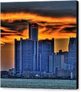 Detroits Sky Canvas Print by Nicholas  Grunas