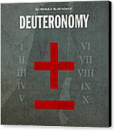 Deuteronomy Books Of The Bible Series Old Testament Minimal Poster Art Number 5 Canvas Print by Design Turnpike