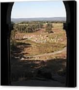 Devils Den From Little Round Top In Gettysburg Canvas Print by William Kuta