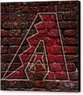 Diamondbacks Baseball Graffiti On Brick  Canvas Print by Movie Poster Prints