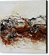 Die Trying1 - Abstract Art Canvas Print by Ismeta Gruenwald